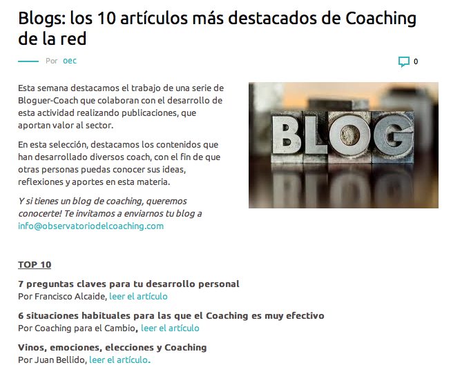 Los 10 mejores blogs de coaching